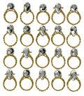 Jolee\u0027s Boutique 4\u0027\u0027 x 4.25\u0027\u0027 Repeat Stickers-Gold Wedding Rings