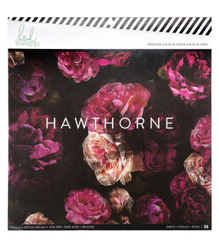 Heidi Swapp Hawthorne 36 sheets 12''x12'' Paper Pad