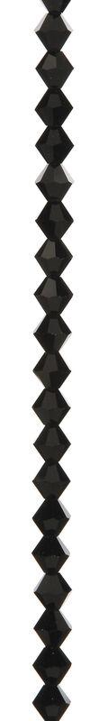 7\u0022 Bead Strands - Jet Black Crystal Bicones, 8mm