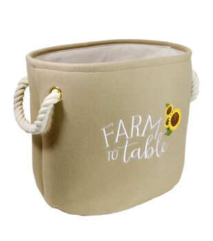 Organizing Essentials Small Soft Bins-Farmhouse