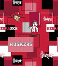 University of Nebraska Cornhuskers Cotton Fabric 43\u0027\u0027-Modern Block