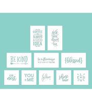Hampton Art Card Stock Stencils-Phrases, , hi-res