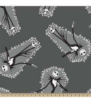 Nightmare Before Christmas Fleece Fabric-Jack Coffin Toss
