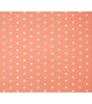 Super Snuggle Flannel Fabric-Dots On Coral