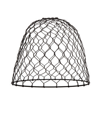 Darice Metal Chickenwire Dome Lampshade-Black