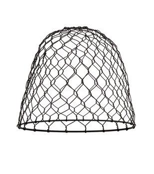 Darice Metal Chickenwire Dome Lampshade-Black