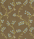 Waverly Sheer Fabric-Indochine Emb/Shitake
