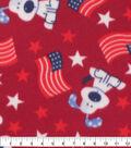 Blizzard Fleece Fabric-Doggie Patriotic
