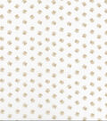 Novelty Cotton Fabric-Beige Puppy Paws