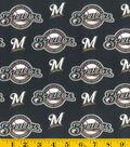 Milwaukee Brewers Cotton Fabric -Mascot Logo