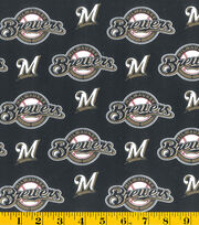 Milwaukee Brewers Cotton Fabric -Mascot Logo, , hi-res