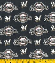 Milwaukee Brewers Cotton Fabric -Mascot Logo, , hi-res