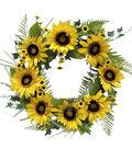 Fresh Picked Spring 23\u0027\u0027 Sunflower Wreath