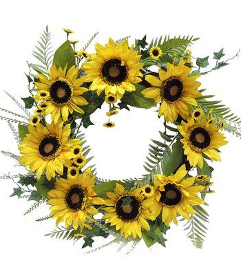 Fresh Picked Spring 23'' Sunflower Wreath
