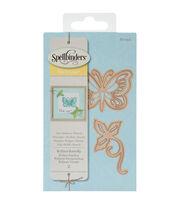 Spellbinders Die D-Lites 2 Pack Etched Dies-Brilliant Butterfly, , hi-res