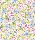 Snuggle Flannel Fabric 42\u0022-Pastel Floral
