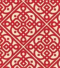 Waverly Lightweight Decor Fabric 54\u0022-Lace It Up/Scarlet
