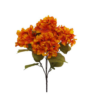 Blooming Autumn Water Resistant Hydrangea Bush-Orange
