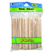 """Simply Art Wood Jumbo Craft Sticks-Natural 6"""" 75/Pkg, , hi-res"""