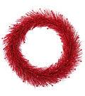 Blooming Holiday Christmas 24\u0027\u0027 Glitter Pine Wreath-Red