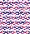 Keepsake Calico Cotton Fabric-Watercolor Triangle Blue Purple