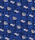 Gonzaga University Bulldogs Cotton Fabric -Distressed