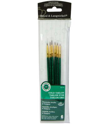 Royal Langnickel 6pc Detail Brush Set-Gold Taklon