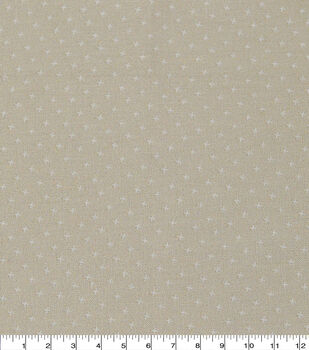 Keepsake Calico Cotton Fabric-Cream Small X Geo