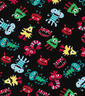 Novelty Cotton Fabric-Little Monster\u0027s Tossed