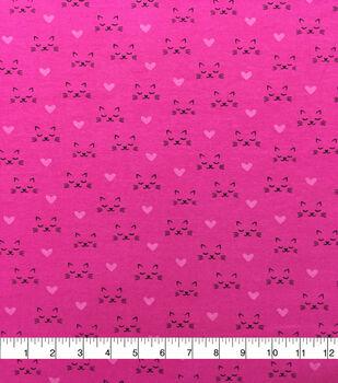 Doodles Cotton Spandex Interlock Knit Fabric-Pretty Kitty