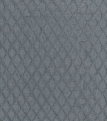 """Double Faced Quilt Fabric 42""""-Gray Diamond"""