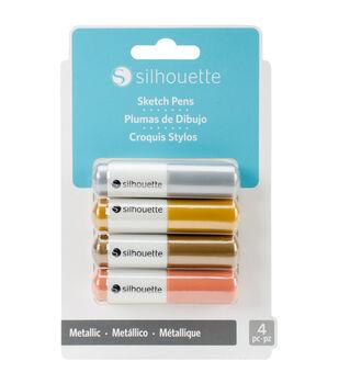 Silhouette of America 4 Pack Sketch Pens-Metallic