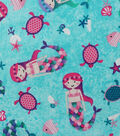 Novelty Cotton Fabric-Tossed Mermaids