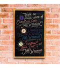VersaChalk Vintage Magnetic Chalkboard Sign W/Wood Frame-11\u0022X17\u0022