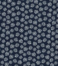 Quilter\u0027s Showcase Cotton Fabric 44\u0027\u0027-Daisy on Navy