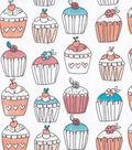 Snuggle Flannel Fabric -Hello Sugar Cupcakes