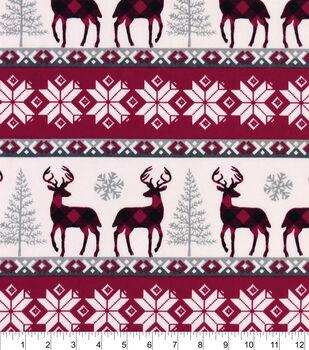 Snuggle Flannel Fabric -Buffalo Check Winter Stripe