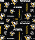 Pittsburgh Penguins Cotton Fabric -Allover