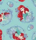 Disney Little Mermaid Fleece Fabric -Ariel And Ship
