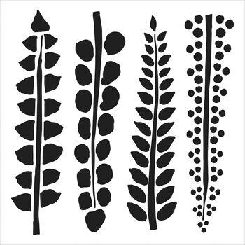 Crafter's Workshop Templates Four Ferns