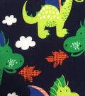 Doodles Juvenile Apparel Knit Fabric 57\u0027\u0027-Dragons on Navy