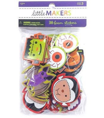 Little Maker's Mixed Foam Stickers-Bats Frankensteins