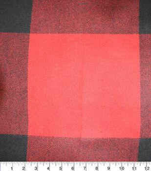 "Sportswear Acrylic Plaid Fabric-Red Black 6"" Check"