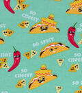 Snuggle Flannel Fabric 43\u0022-Spicy Tacos
