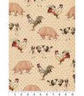 Better On Farm Animals Cotton Fabric