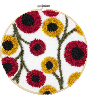 Floral Pattern Punch Needle Kit