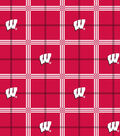 University of Wisconsin Badgers Flannel Fabric 42\u0022-Plaid