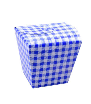Land of the Free Baking 5 pk Treat Boxes with Fold Over Lid-Blue Gingham