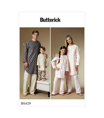 Butterick Pattern B6429 Adult & Children's Button-Up Tunic & Pants-Adult