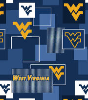West Virginia University Mountaineers Cotton Fabric 43''-Modern Block, , hi-res